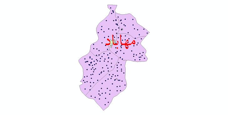 دانلود نقشه جی آی اس تقسیمات سیاسی شهرستان مهاباد سال 1398