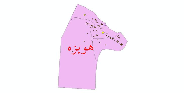 دانلود نقشه جی ای اس تقسیمات سیاسی شهرستان هویزه سال 1398
