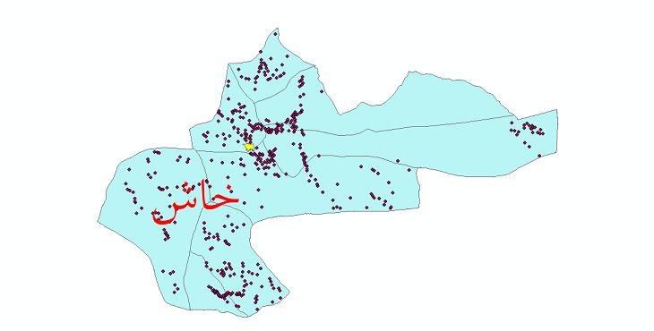 دانلود نقشه جی آی اس تقسیمات سیاسی شهرستان خاش سال 1398