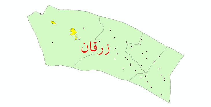 دانلود نقشه جی ای اس تقسیمات سیاسی شهرستان زرقان سال 1398