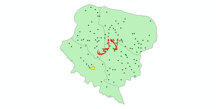 دانلود نقشه جی ای اس تقسیمات سیاسی شهرستان لالی سال 1398