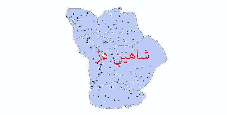 دانلود نقشه جی آی اس تقسیمات سیاسی شهرستان شاهین دژ سال 1398