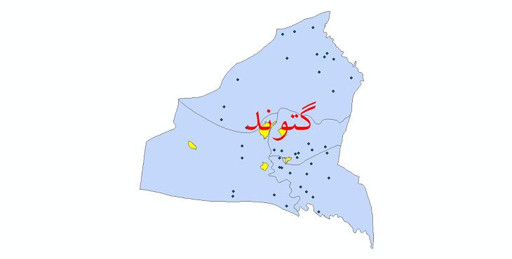دانلود نقشه جی ای اس تقسیمات سیاسی شهرستان گتوند سال 1398