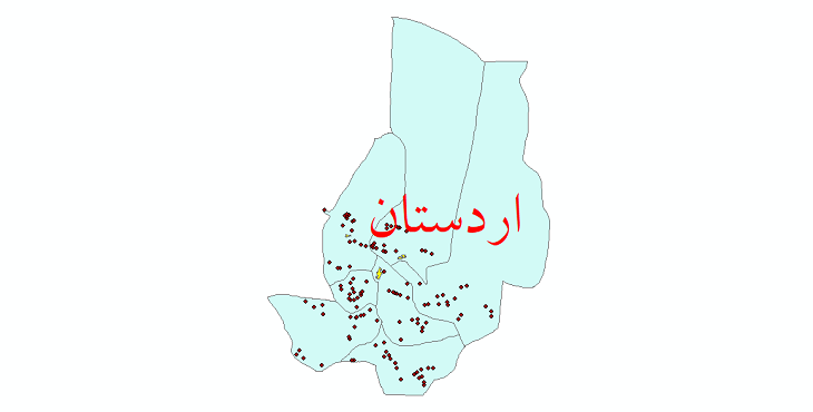 دانلود نقشه جی ای اس تقسیمات سیاسی شهرستان اردستان سال 1398