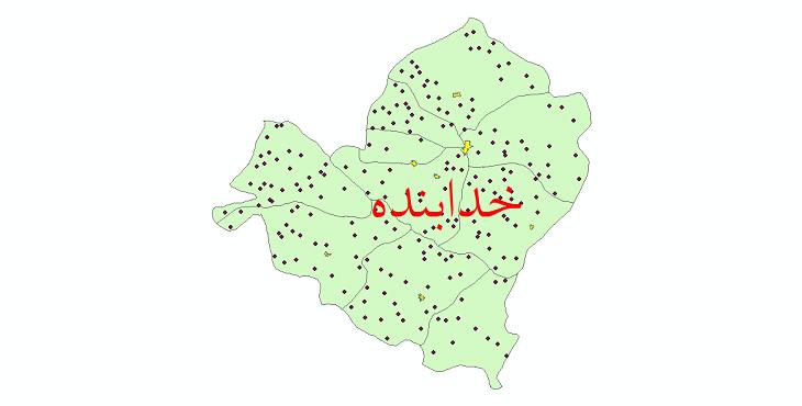 دانلود نقشه جی آی اس تقسیمات سیاسی شهرستان خدابنده سال 1398