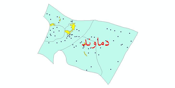 دانلود نقشه جی آی اس تقسیمات سیاسی شهرستان دماوند سال 1398