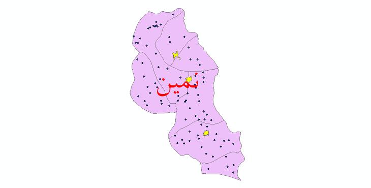 دانلود نقشه جی آی اس تقسیمات سیاسی شهرستان نمین سال 1398