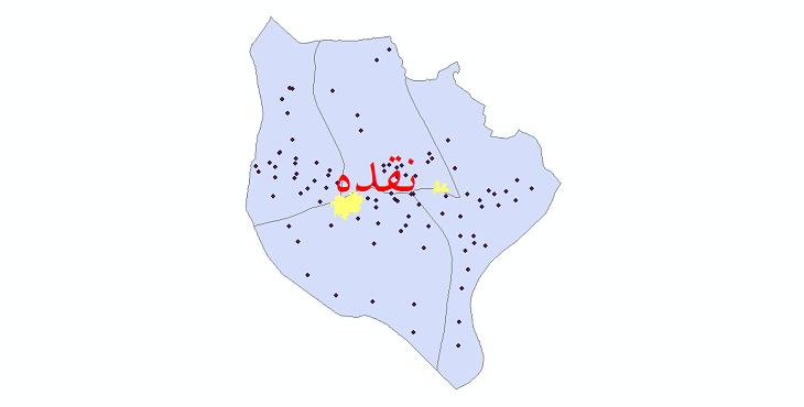 دانلود نقشه جی آی اس تقسیمات سیاسی شهرستان نقده سال 1398