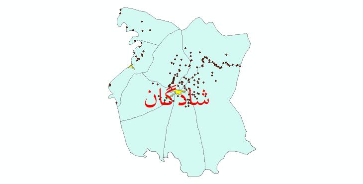 دانلود نقشه جی ای اس تقسیمات سیاسی شهرستان شادگان سال 1398