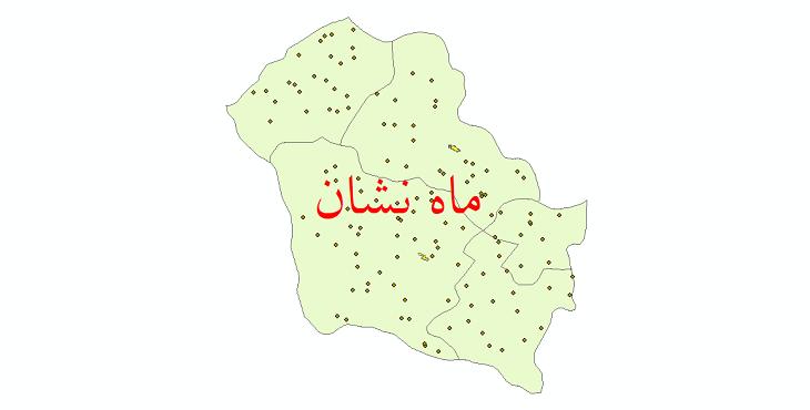 دانلود نقشه جی آی اس تقسیمات سیاسی شهرستان ماهنشان سال 1398