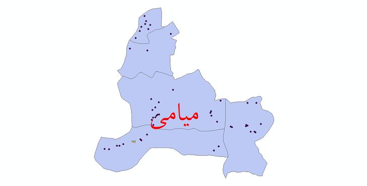 دانلود نقشه جی آی اس تقسیمات سیاسی شهرستان میامی سال 1398