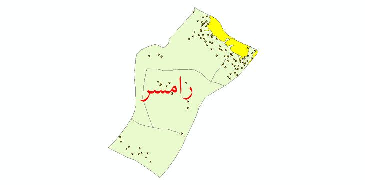 دانلود نقشه جی ای اس تقسیمات سیاسی شهرستان رامسر سال 1398