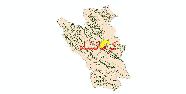 دانلود نقشه جی ای اس تقسیمات سیاسی شهرستان کرمانشاه سال 1398