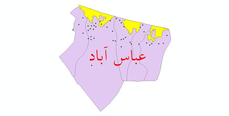 دانلود نقشه جی ای اس تقسیمات سیاسی شهرستان عباس آباد سال 1398