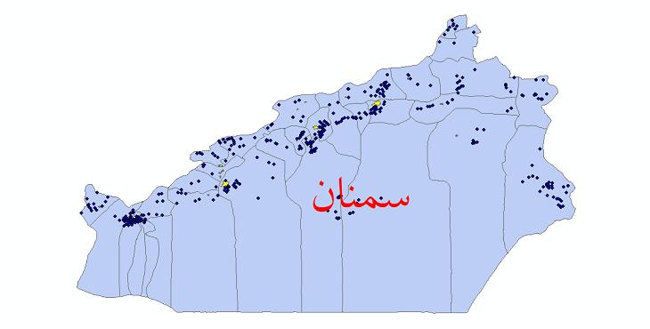 دانلود نقشه جی ای اس تقسیمات سیاسی استان سمنان سال 1398