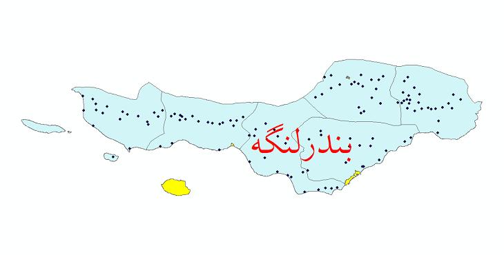 دانلود نقشه جی ای اس تقسیمات سیاسی شهرستان بندر لنگه سال 1398
