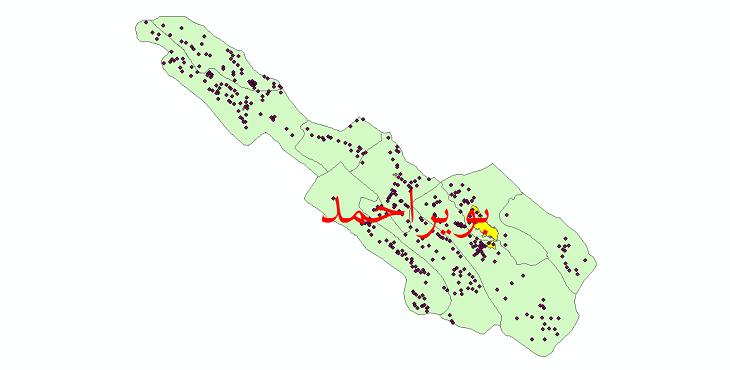 دانلود نقشه جی ای اس تقسیمات سیاسی شهرستان بویراحمد سال 1398