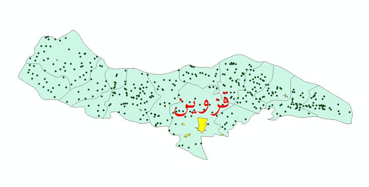 دانلود نقشه جی ای اس تقسیمات سیاسی شهرستان قزوین سال 1398