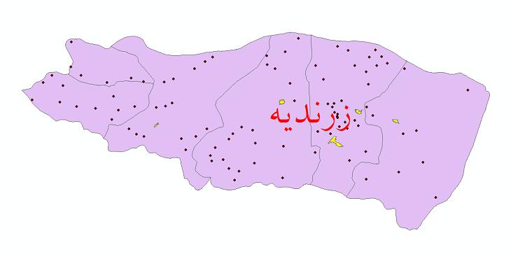 دانلود نقشه جی ای اس تقسیمات سیاسی شهرستان زرندیه سال 1398