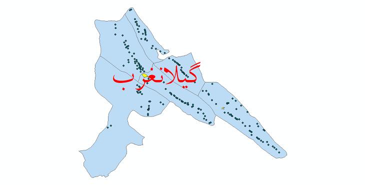 دانلود نقشه جی ای اس تقسیمات سیاسی شهرستان گیلانغرب سال 1398