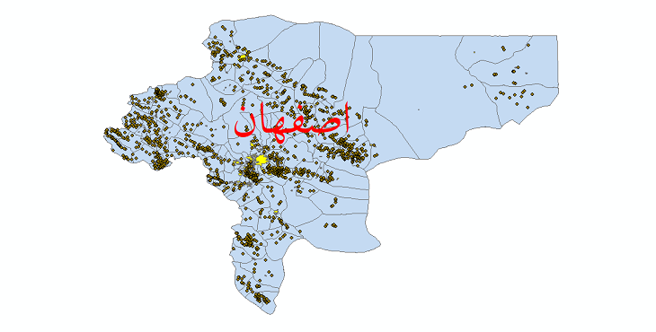 دانلود نقشه جی ای اس تقسیمات سیاسی استان اصفهان سال 1398