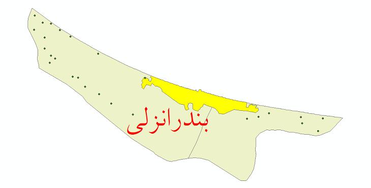 دانلود نقشه جی ای اس تقسیمات سیاسی شهرستان بندر انزلی سال 1398