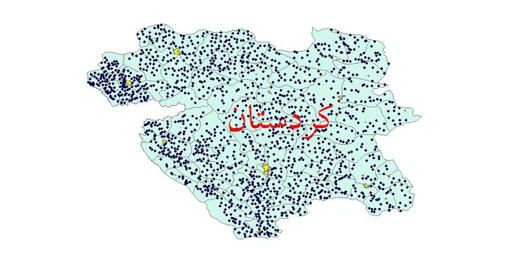 دانلود نقشه جی ای اس تقسیمات سیاسی استان کردستان سال 1398