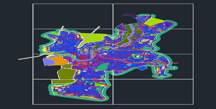 دانلود نقشه اتوکد طرح تفصیلی مهاباد