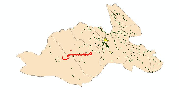 دانلود نقشه جی ای اس تقسیمات سیاسی شهرستان ممسنی سال 1398