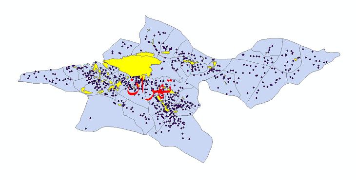 دانلود نقشه جی ای اس تقسیمات سیاسی استان تهران سال 1398