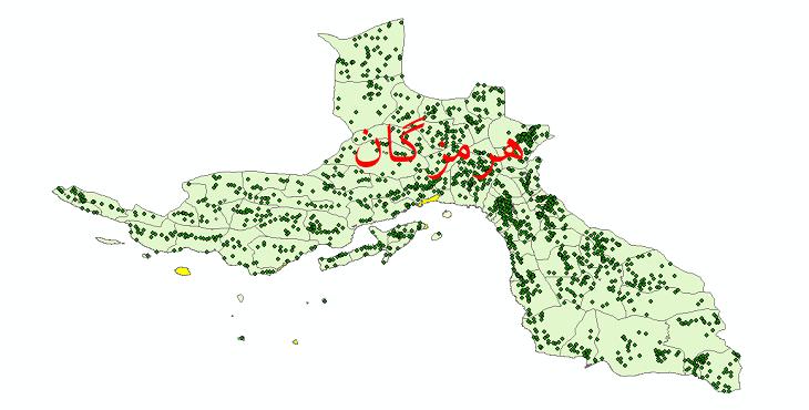 دانلود نقشه جی ای اس تقسیمات سیاسی استان هرمزگان سال 1398