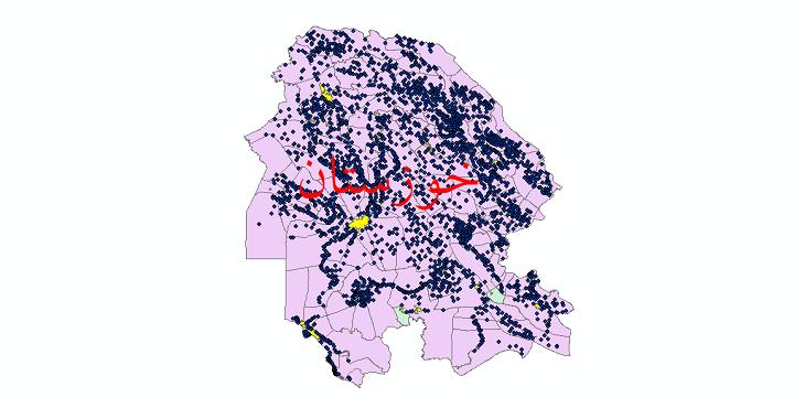 دانلود نقشه جی ای اس تقسیمات سیاسی استان خوزستان سال 1398