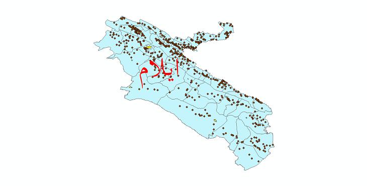 دانلود نقشه جی ای اس تقسیمات سیاسی استان ایلام سال 1398