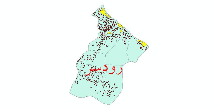 دانلود نقشه جی ای اس تقسیمات سیاسی شهرستان رودسر سال 1398