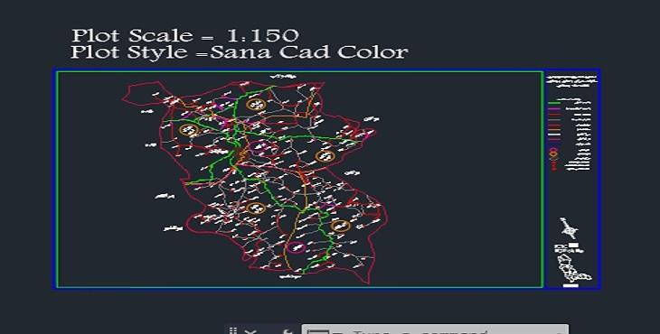 دانلود نقشه اتوکد شهرستان مهاباد (راه های ارتباطی )