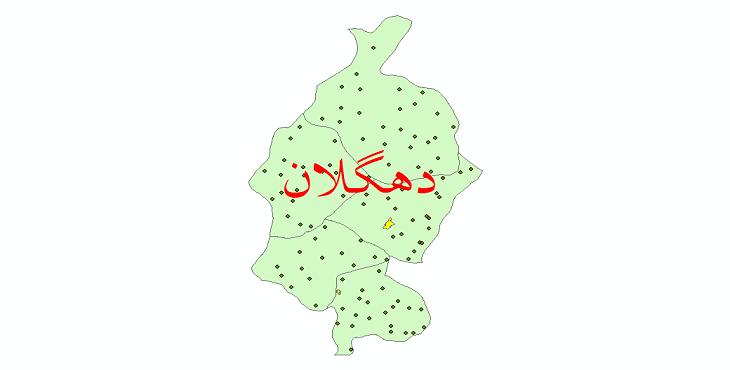 دانلود نقشه جی ای اس تقسیمات سیاسی شهرستان دهگلان سال 1398