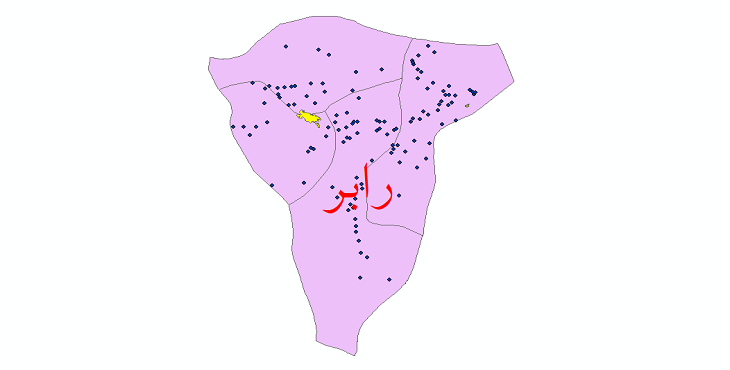 دانلود نقشه جی ای اس تقسیمات سیاسی شهرستان رابر سال 1398