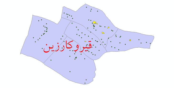 دانلود نقشه جی ای اس تقسیمات سیاسی شهرستان قیر و کارزین سال 1398