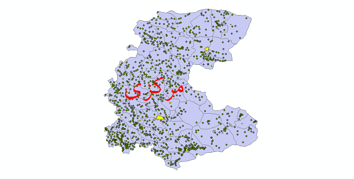 دانلود نقشه جی ای اس تقسیمات سیاسی استان مرکزی سال 1398