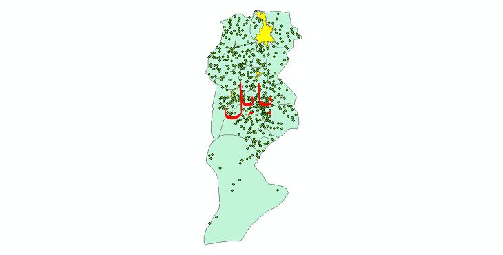 دانلود نقشه جی ای اس تقسیمات سیاسی شهرستان بابل سال 1398