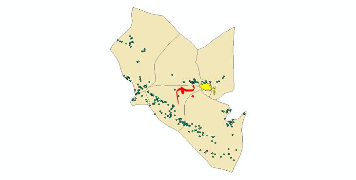 دانلود نقشه جی ای اس تقسیمات سیاسی شهرستان بم سال 1398