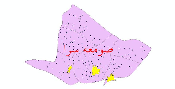 دانلود نقشه جی ای اس تقسیمات سیاسی شهرستان صومعه سرا سال 1398