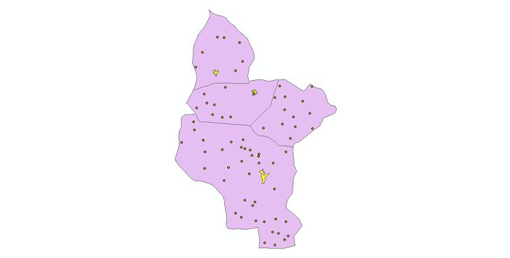 دانلود نقشه جی ای اس تقسیمات سیاسی شهرستان فراهان سال 1398