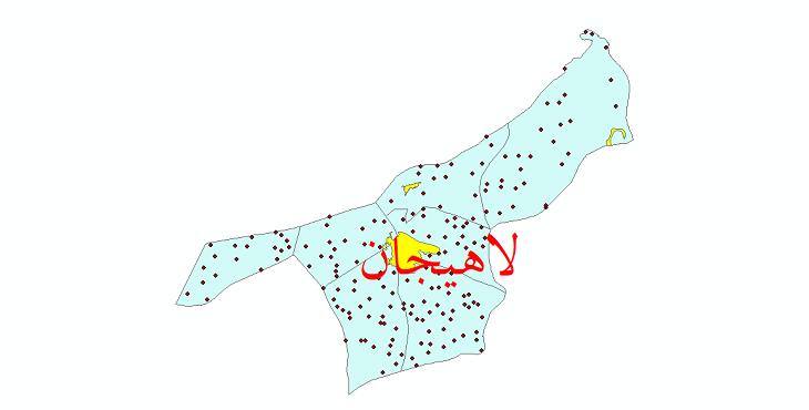 دانلود نقشه جی ای اس تقسیمات سیاسی شهرستان لاهیجان سال 1398