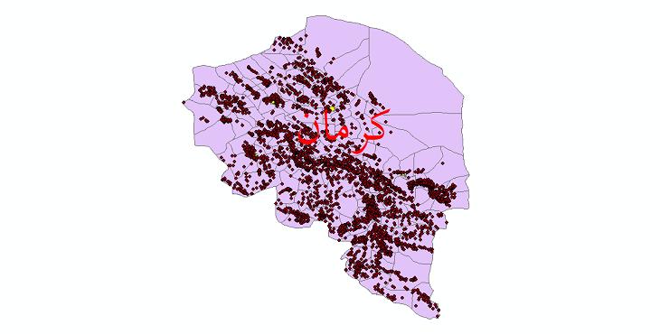 دانلود نقشه جی ای اس تقسیمات سیاسی استان کرمان سال 1398