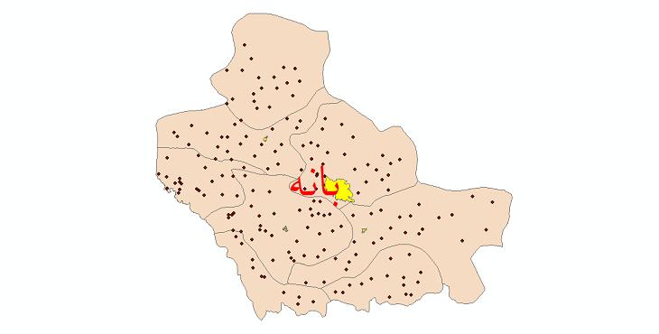 دانلود نقشه جی ای اس تقسیمات سیاسی شهرستان بانه سال 1398