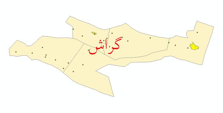 دانلود نقشه جی ای اس تقسیمات سیاسی شهرستان گراش سال 1398
