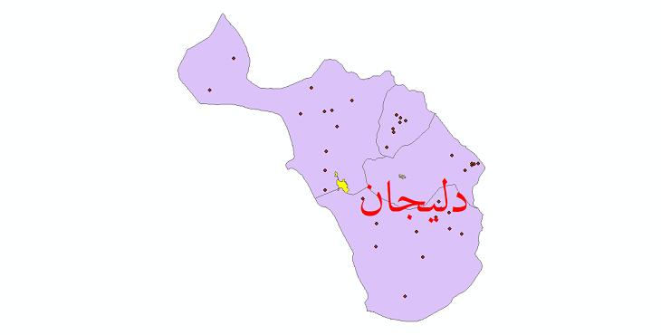 دانلود نقشه جی ای اس تقسیمات سیاسی شهرستان دلیجان سال 1398