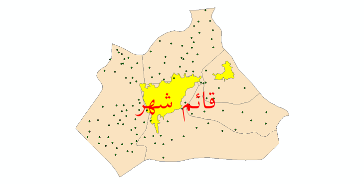 دانلود نقشه جی ای اس تقسیمات سیاسی شهرستان قائمشهر سال 1398