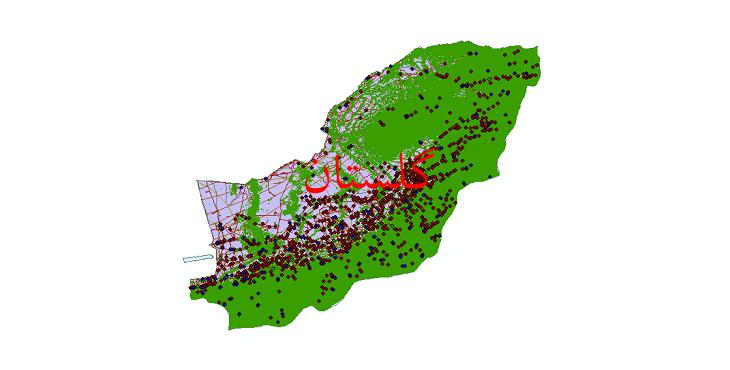 دانلود لایه جی ای اس و شیپ فایل های استان گلستان
